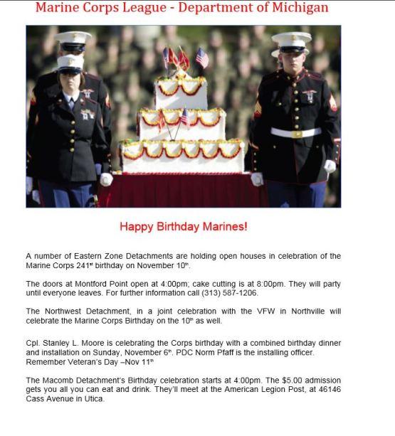 Happy Birthday Marines!